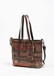 vintage leather belt strap houdini tote bag