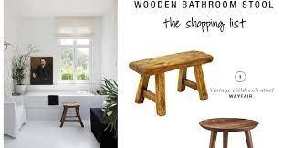 10 Best Wooden Bathroom Stools My Paradissi