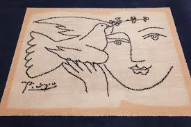 vintage peace and joy rug by picasso 49496 field nazmiyal