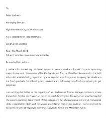 Volunteer Letter Samples Volunteer Letters Samples Sample Reference Letter Free