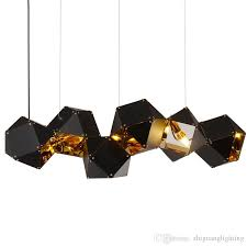 nordic postmodern metal multi head dna pendant lighting villa club loft designer pendant lamps lantern pendant light pendant lamp shade from