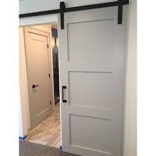 unbelievable painted barn door 3 panel design sliding interior old exterior style rustic