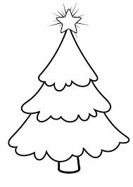 Christmas Tree Line Drawing #1501060