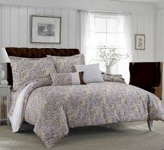 tribeca living fiji 5 piece cotton paisley duvet cover set chocolate grey