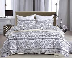 new white black geometric design bedding set of duvet cover set quilt cover pillowcase twin queen king size fl duvet covers pink duvet cover from