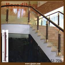 china ornamental aluminum wood glass barade staircase glass railing designs china balcony barade glass staircase railing cost