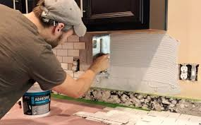 Install Wall Tile Backsplash New How To Install A Subway Tile Kitchen Backsplash Young House Love