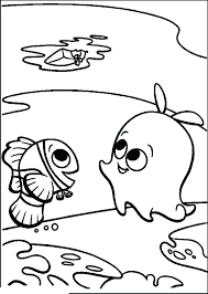 Finding Nemo Characters Coloring Pages Pearl And Marlin Kids Book