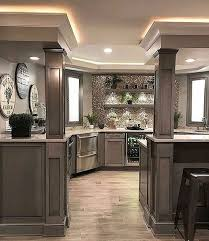 Basement Kitchen Designs Magnificent Absolutely Love The Design And Color Scheme Great Fixture And