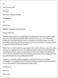 Download Resignation Letter Teacher Resignation Letter Sample