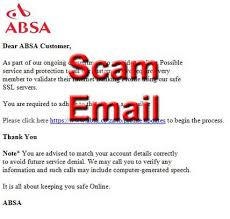 Get up to 30% real cash back when you shop online or instore at food lover's market, pick n pay or woolworths. Absa Phishing Scam Emails