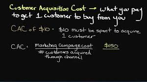 customer acquisition cost episode 172 the customer acquisition cost formula youtube