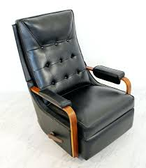 leather rocking recliner for your consideration is an original classic la z boy reclining chair glider leather rocking recliner