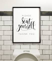 Please seat yourself sign - The Crown Prints