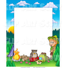 colorful frame border design. Clipart Of A Boy Camping In The Wild Border Frame Around White Colorful Design
