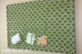 ... Astonishing Wall Decoration Using Fabric Cork Board Ideas : Interactive  Light Green Fabric Cork Board For ...