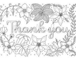 Thank You Cards Printable Coloring Page Color Me Happy Adult
