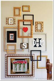 beautiful frames then add the first letters of the first names of the family members with wooden letter finish by adding decorative elements like