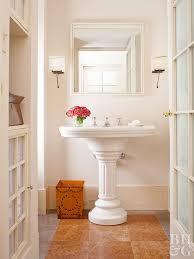 cork floor for bathroom. Bathroom Vinyl Floor Mimics Tile Cork For