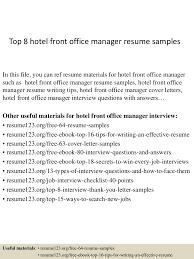 Hotel Front Desk Manager Resume Resume For Your Job Application