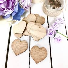 details about plain wooden hearts for heart drop box guest book wood 50 hearts per pack