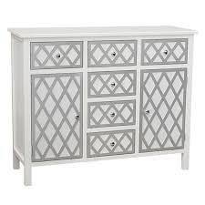 gallerie decor trellis white accent cabinet