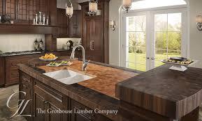 large custom butcher block countertops for kitchen island