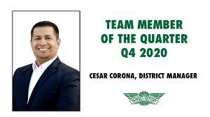 Celebrating Team Member of the Quarter – Cesar Corona