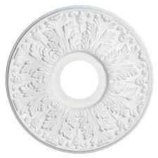 victorian white finish ceiling medallion