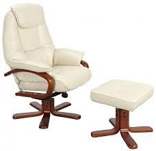 macau cream leather swivel recliner chair footstool me home furnishings