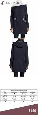 New Ivanka Trump Zip Front Hooded Anorak Jacket Solid