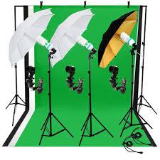 photo photography studio light bulb muslin backdrop stand umbrella lighting kit