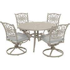 hanover traditions 5 piece aluminum