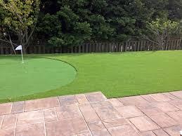best artificial grass pocasset oklahoma diy putting green beautiful backyards