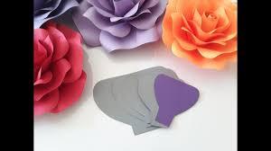 diy paper rose template making tutorial