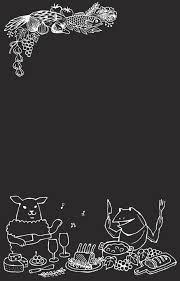 お店オリジナルブラックボード用イラストチョークアートイラスト