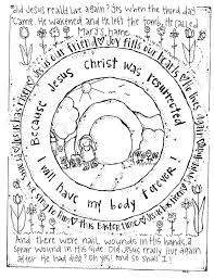 Free Bible Easter Coloring Pages Printable Christian Easter Coloring