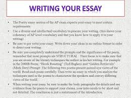 tackling the poetry essay ppt video online  3 writing