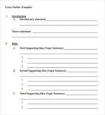 Easy Essay Format Blank Essay Outline Format Writings And Essays