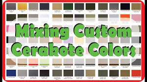 Cerakote Color Chart Mixing Custom Colors With Cerakote