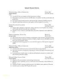 Resume Template For A College Student Resume Sample Format For