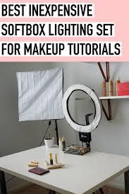 Lights For Makeup Tutorials Best Inexpensive Softbox Lighting For Makeup Tutorials
