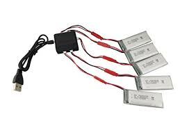 Fytoo <b>5PCS 3.7V</b> 900mah <b>Lithium</b> Batteries & 5 in 1 Charger ...