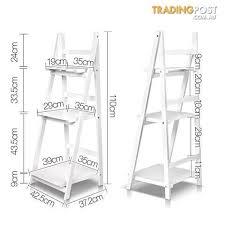 Wooden Ladder Display Stand Best Wooden Ladder Book Shelves Display Shelving Storage 32Shelf Tier