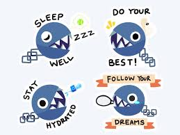 Torn 🔪 on Twitter: motivational chain chomp stickers 🎾…