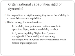 Organizational Ability Foundations Of Strategy Chapter 3 Resources And Capabilities Ppt
