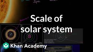 Solar System Distance Chart Scale Of Solar System Video Khan Academy