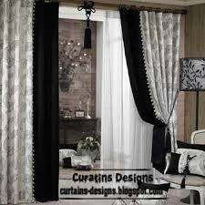 Interesting Black And White Curtains E On Design Decorating