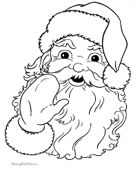 Small Picture Christmas Coloring Sheets of Santa Claus