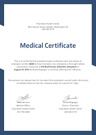 Medical Certificate Free Medical Certificate Template in PSD MS Word Publisher 2